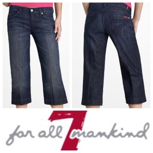 7 For All Mankind Denim - 7 FOR ALL MANKIND || Dark Cropped DOJO Jeans